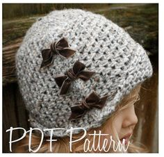 Crochet PATTERN-The Paiyton Cloche' Toddler di Thevelvetacorn