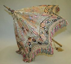 Parasol Date: early 1900s Culture: British Medium: silk