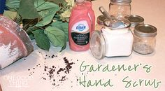 Gardeners Hand Scrub: Sugar & Dawn Soap with Olay Hand Renewal