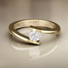 anel em ouro de noivado