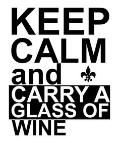 Carry a glass of wine