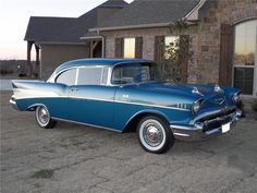 1957 CHEVROLET BEL AIR 2 DOOR HARDTOP, 283 2x4bbl V8/3 on-the-tree