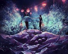 Esse artista francês cria mundos fantásticos inspirados por Hayao Miyazaki e Tim…