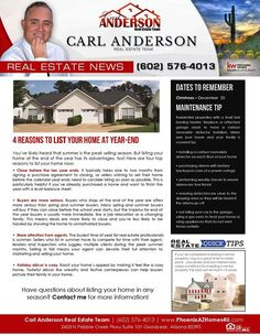 4 Reasons To List Your Home At Year-End  via The Carl Anderson Team