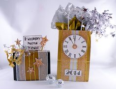 Dazzling New Year's designs by Gina Tepper featuring Nashville Wraps products! #happynewyear #newyearsparty #newyearsfavors