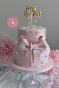 Love heart, lollipop sweet cake