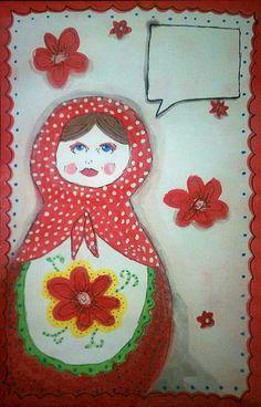 Mail art-- maybe put address on apron?