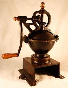Antique ELMA Coffee Grinder Mill Cast-Iron SPANISH Moulin cafe c1910 ORIGINAL #Elma