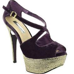 sequin covered stiletto heel