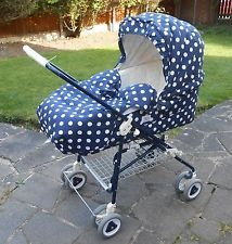 VINTAGE 90's MAMAS & PAPAS CARRYCOT AND PUSH CHAIR COMBINATION