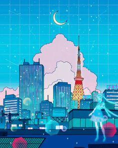 #illustration #digitalart #illustrator #digitaldrawing #digitalpainting #art #digitaldoodles Anime Backgrounds Wallpapers, Anime Scenery Wallpaper, Cute Cartoon Wallpapers, Animes Wallpapers, Aesthetic Art, Aesthetic Anime, Aesthetic Videos, Kawai Japan, Arte 8 Bits