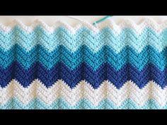 Easy Crochet Chevron Blanket - Repeat Crafter Me Crochet Ripple Blanket, Chevron Blanket, Crochet Blanket Patterns, Crochet Blankets, Crochet Afghans, Crochet Stitches, Easy Crochet, Crochet Hooks, Crochet Baby