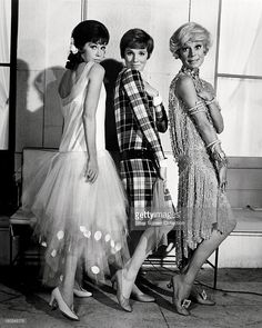 Mary Tyler Moore as Miss Dorothy Brown, Julie Andrews as Millie Dillmount, and Carol Channing as Muzzy Van Hossmere, in a promotional portrait for 'Thoroughly Modern Millie', directed by George Roy Hill, 1967.