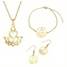 Purity Jewelry Set Gold Necklace, Pendant Necklace, Collection, Jewelry, Gold Pendant Necklace, Jewlery, Jewerly, Schmuck, Jewels