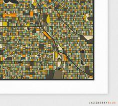 Denver street map vintage 1922 street map print poster denver street map vintage 1922 street map print poster blueprint studio 818 office pinterest print poster and office art malvernweather Images