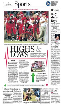 Sports cover for The Fresno Bee.    www.jonalynnmcfadden.com