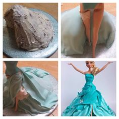 Cupcakes disney fondant cake tutorial 39 ideas for 2019 Fondant Cupcakes, Fondant Cake Tutorial, Cupcake Cakes, Bolo Barbie, Barbie Cake, Cake Decorating Techniques, Cake Decorating Tutorials, Frozen Doll Cake, Foto Pastel