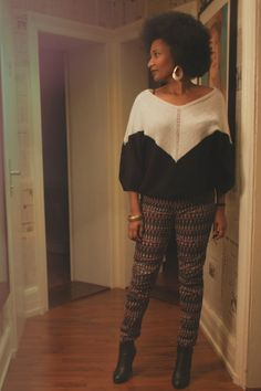 Handmade Sweater and tight pants...