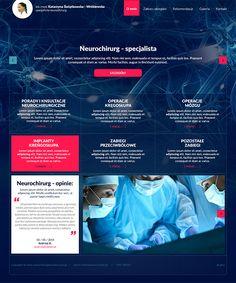Strona internetowa -  neurochirurg K. Świątkowska - Wróblewska