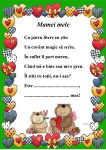 Mamei mele, litera M - o poezie dedicată mamei la învățarea literei m Act Practice, Kids Poems, School Lessons, Stories For Kids, Mom Quotes, Kids Education, Holiday Parties, Parenting Hacks, School Supplies