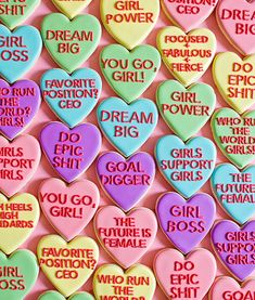 Sweet Strength: Courage Cookies to Empower the Women in Your Life + 21 Girl Power Quotes to Inspire You - Carrie Colbert Valentines Day Cookies, Valentines Day Party, Be My Valentine, Birthday Cookies, Lisa Frank, Heart Cookies, Sugar Cookies, Baby Cookies, Easter Cookies