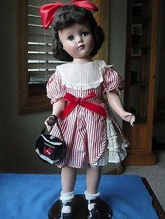 "Beautiful 17.5"" Hard Plastic Vintage Arranbee Doll--Possibly Original Dress"