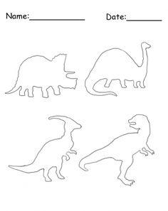 Printable Dinosaur Stencil