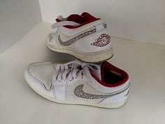 Pre-Owned Men's Nike Air Jordans White Size 13 Lace-Up
