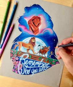 disney art The Lion King um futuro filme pico - art Cartoon Kunst, Cartoon Drawings, Cartoon Art, Animal Drawings, Lion King Drawings, Lion King Art, Lion King Tattoos, The Lion King, Art Disney
