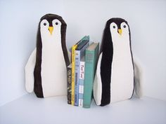 Pair of Penguin Bookends for nursery or child's by FunctionalArtWA, $29.99