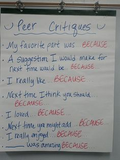 Peer Critiques-make a poster like this to teach students how to critique each other's performances Teaching Theatre, Teaching Time, Teaching Writing, Teaching Tools, Teaching Resources, Classroom Resources, Drama Teacher, Drama Class, Drama Drama