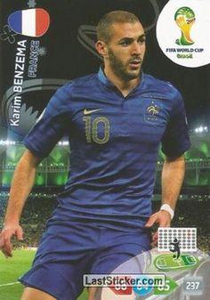 Card 168: Karim Benzema - Panini FIFA World Cup Brazil 2014. Adrenalyn XL - laststicker.com