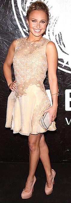 Hayden Panettiere; Dress – Versace  Shoes – Christian Louboutin