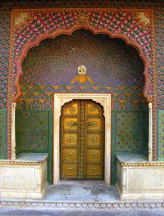 Vertical Print featuring the photograph Doorway by Grant Faint Islamic Architecture, Futuristic Architecture, Beautiful Architecture, Architecture Details, Gates, City Palace Jaipur, Gate City, Front Door Design, Unique Doors