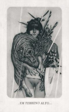 "Joao Ruas - "" Le Sacre du Printemps VIII - Engaged "" (2012) Graphite on Paper, Vellum & Acetate - 19 x 27 cm"