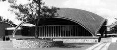 University College, Ibadan:  Residential College 3 dining hall (Sultan Bello Hall)...1955 Fry & Drew Architects