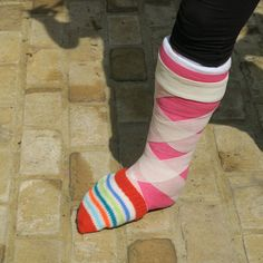 Cast Socks on Pinterest Socks, Leg Cast and Toe