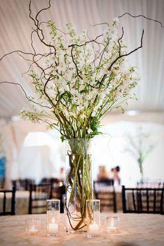 branches wedding centerpiece   5 eco-friendly wedding flower ideas   http://www.mywedding.com/articles/5-easy-eco-friendly-wedding-flower-ideas/