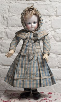 15 (38 cm) Very Rare Early French Bisque Bebe Schmitt et Fils Doll from respectfulbear on Ruby Lane