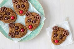 Cute ginger spiced reindeer cookies to leave for Santa!