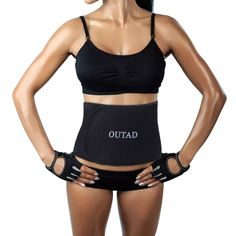 OUTAD Waist Trimmer Belt for Weight Loss,Waist Sweat Band for Women Slimmer,Girdles for Woman Body Shaper(M Size Black Side). ►DURABLE MATERIAL FOR LONG TIME USING---We only use the high quality materials on oue slimming belts,which can increases your core temperature during exercise enhancing thermogenic activity and sweat. ►COMFORTABLE AND ADJUSTABLE---Super fit your body,the flexible and lightweight waist trimmer can fit you body perfectly,provide your core, lower back and lumbar with…
