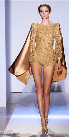 Zuhair Murad Haute Couture Spring 2013 - Zuhair Murad Haute Couture Spring 2013 The Effective Pictures We Offer You About outfits basicos A - Fashion Milan, Fashion Week, Runway Fashion, High Fashion, Fashion Show, Fashion Design, Ski Fashion, Sporty Fashion, Gold Fashion
