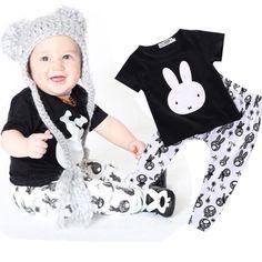 """Hip Hop"" Bunny 2pc Outfit set for Newborn & Infant"