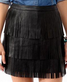 Tiered Fringe Skirt | FOREVER21 - 2025101371