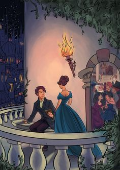Mistborn by Brandon Sanderson. Scene where Vin and Elend first meet. --Not great art but love these books!!!