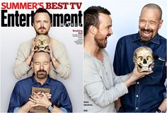 Aaron Paul & Brian Cranston for Entertainment Weekly - June 2013. Photographer - Alexie Hay. Styling - Jenny Ricker / Starworks Artists.