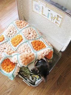 crocheted | http://cuteblankets.blogspot.com