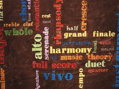 Rhapsody - Lyric by Billie Davids of Frond Design Studios [AliceInStitchesArts] Conversational Prints, Theme Words, Design Studios, Music Theory, Lyrics, Fabric, Etsy, Tejido, Tela
