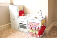 DIY Playkitchen for kids - click on link at end to go to blog post about how to build