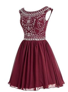 Beading Homecoming Dress Short Prom Dresses V-back Homecoming Dresses